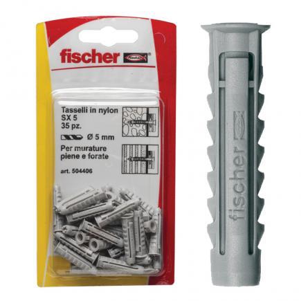 FISCHER Nylon plug in blister SX K - 1