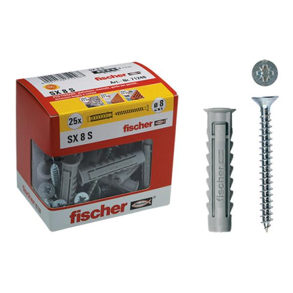 FISCHER Nylon plug with screw in box SX S Y - 1