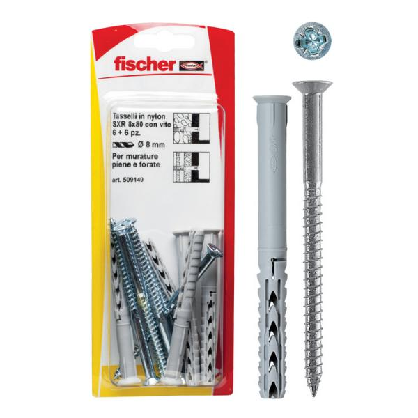 FISCHER Frame fixing with countersunk wood screw in blister SXR Z K - 1