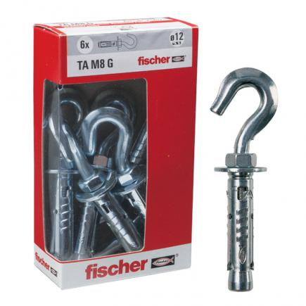 FISCHER Expansion anchor with hook in box TA M G Y - 1