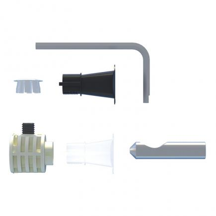 FISCHER Hidden fixing for suspended toilets and bidets with side or top access WB 9 B LV - 1