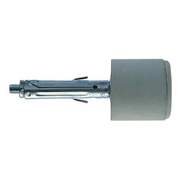 FISCHER Metal wall plug with door stopper white SBS 9/12 - 1