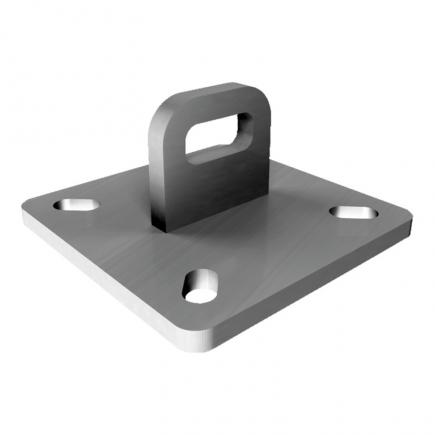FISCHER End plate hot-dip galvanized for wall or inclined lines SVE - 1