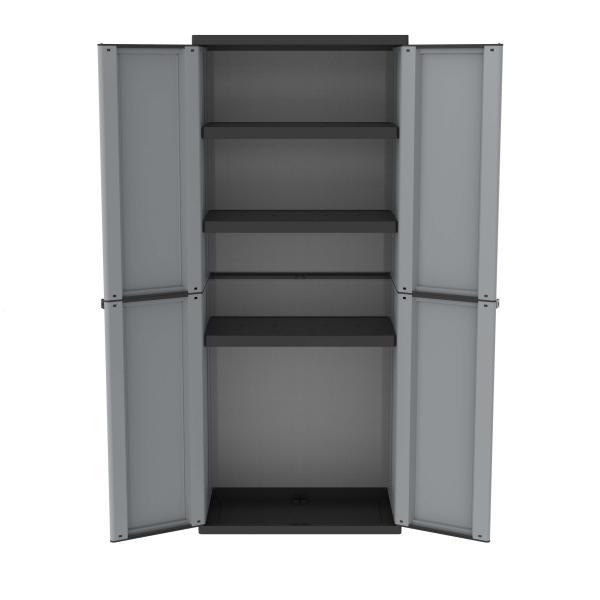 TERRY Outdoorschrank 68x37,5x163,5 - 2 Türen 3 Einlegeböden - 1
