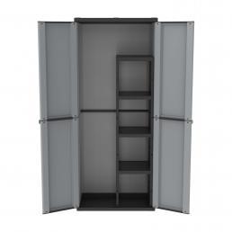 TERRY Outdoorschrank 89,7x53,7x180 - 2 Türen 4 Einlegeböden - 1