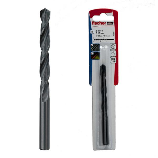 FISCHER Metal drill steel bit in blister HSS-R K - 1