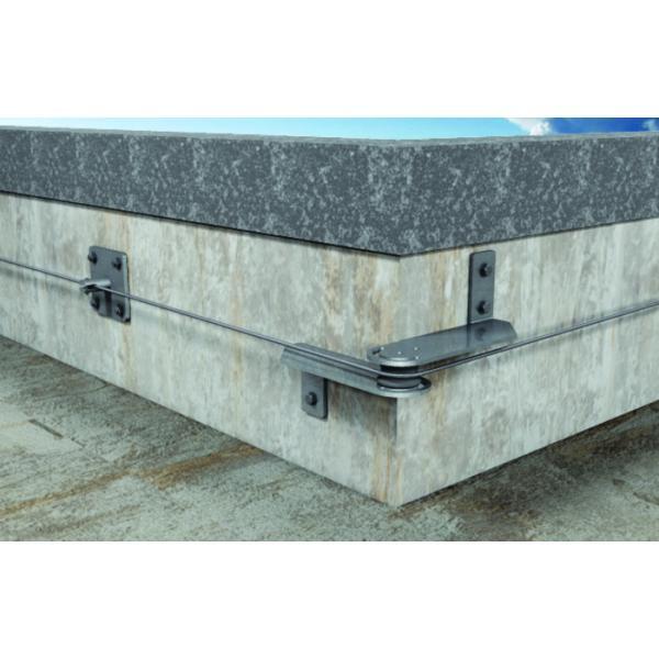 FISCHER Intermediate plate corner inox for wall lines SVA - 1
