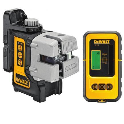 DeWALT 3 Wege Multi-Linienlaser mit DE0892 Detector - 1