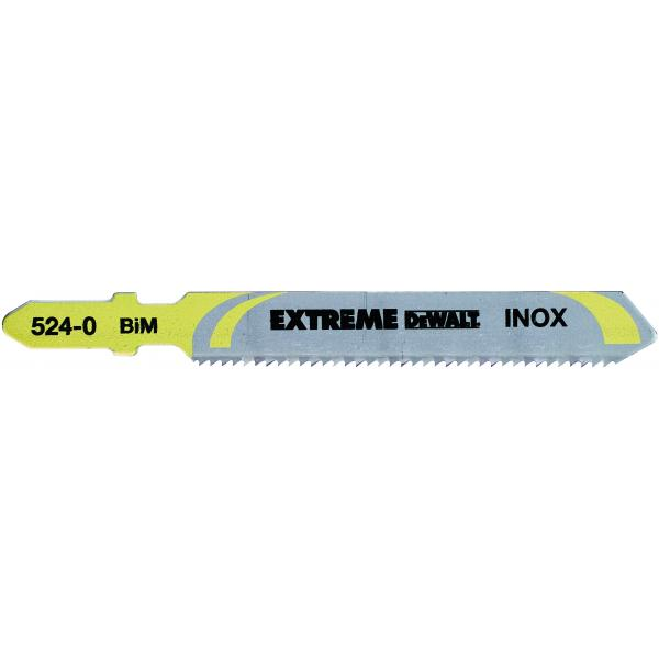 DeWALT Stichsägeblatt für Metall- Inox-Stahl Schnitte bis 4mm - 1
