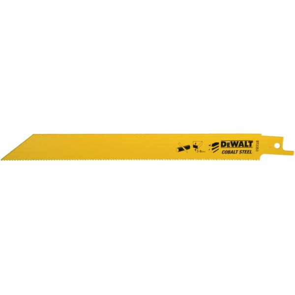DeWALT Bi-Metall Universalsäbelsägeblatt - Schnitte in Metallen, NE- Metallen, Rohren und Profilen (3-8 mm) - 1