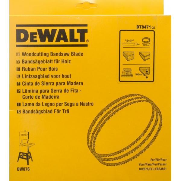 DeWALT Alligator® Bandsägeblatt für DW 876 - Holz-Radien - 1