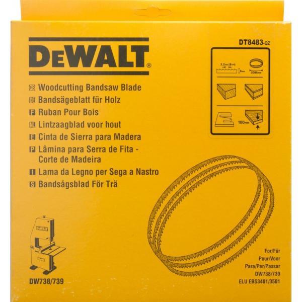 DeWALT Bandsägeblatt für DW738-9 - Holz- Radien - 1