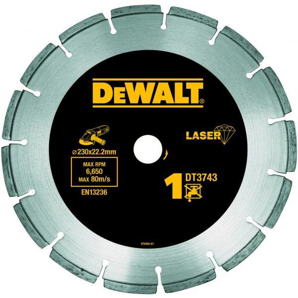 DeWALT Lasergeschweißte Diamant-Trennscheibe: Universal - Baustellenmaterialien - Beton - 1