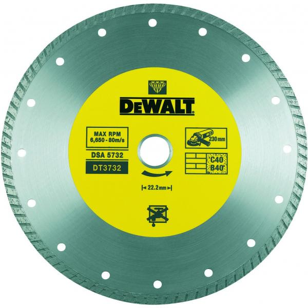 DeWALT Gesinterte Diamantentrennscheibe für allgemeine Baustellenmaterialien - 1