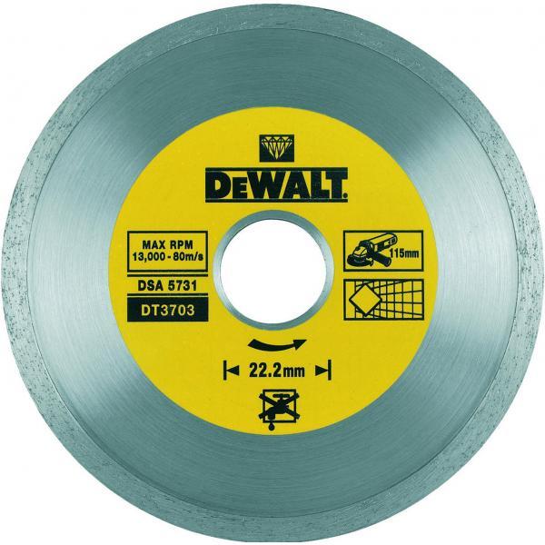 DeWALT Diamanttrennscheibe mit kontinuierlicher Felge - 1