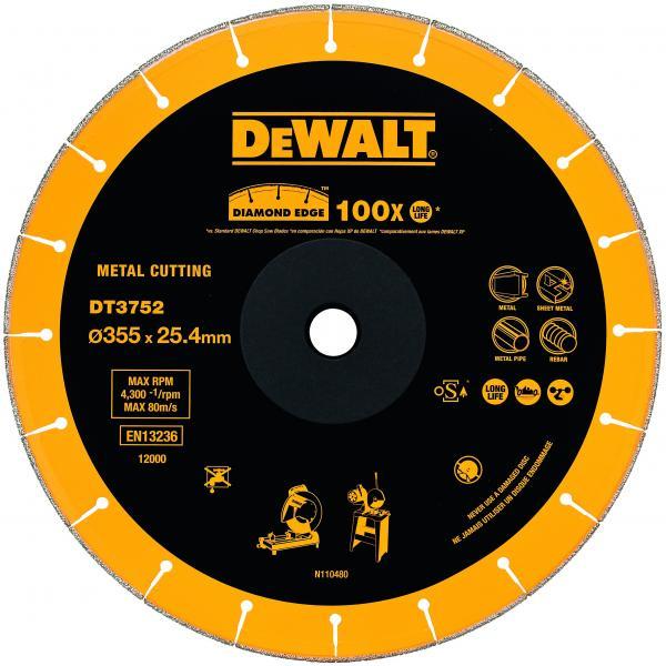 DeWALT Diamant- Trennscheibe für Metall 355x25.4x2.8mm - 1