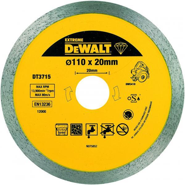 DeWALT Diamant Trennscheibe mit durcgehendem Segment 110x20x8 mm - 1