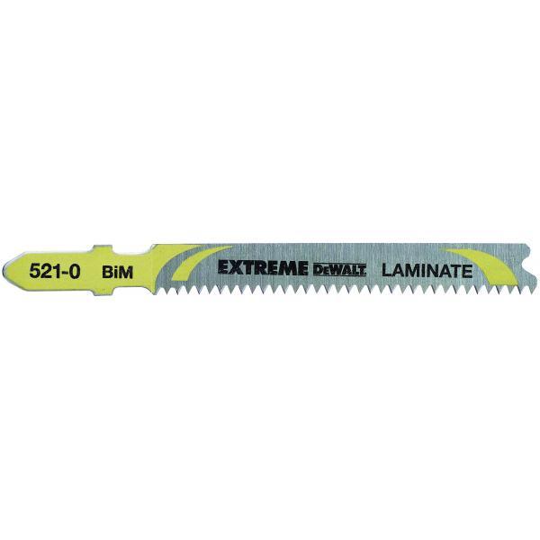 DeWALT Holzstichsägeblatt - gerade Schnitte in Laminaten (bis 15mm) - 1