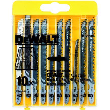 DeWALT 10-tlg Stichsägeblätter- Satz für Holz - 1