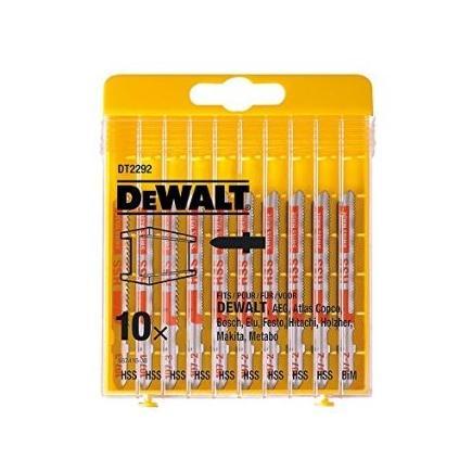 DeWALT 10-tlg Stichsägeblätter- Satz für Metall - 1