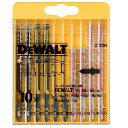DeWALT 10-tlg Stichsägeblätter- Satz für Holz und Metall - 1