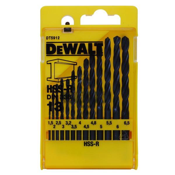 DeWALT 13-tlg HSS-R Metallbohrer Satz in Kunststoff-Kassette - 1