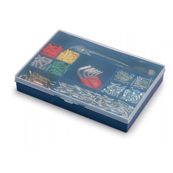 TERRY Kleinteilemagazin mit Fächern Ausgestattet mit Deckel - 1