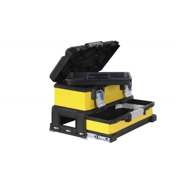 STANLEY Metall-Kunststoff Werkzeugbox Mit Integrierter Schublade - 1