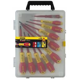 STANLEY Fatmax™ Set 10-Teilig (Schlitz Isoliert-Phillips Isoliert-Pozidriv Isoliert-Tester) - 1