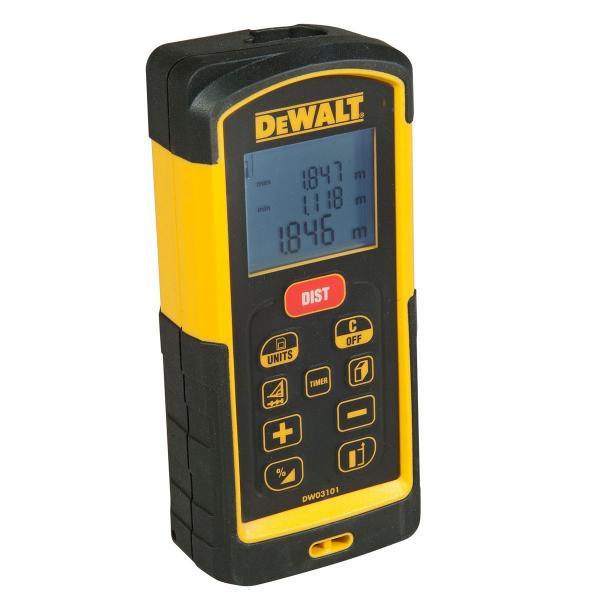 DeWALT Laser-Distanzmesser - 100m Messgenauigkeit +-- 1,0 mm - 1