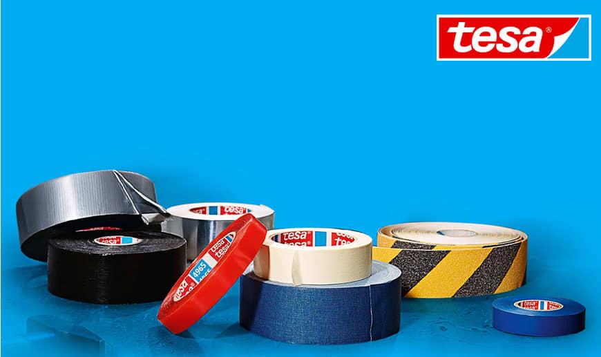 Tesa: Professionelle Klebebänder, Doppelklebebänder, Klempner - und Warnbänder auf Mister Worker erhältlich