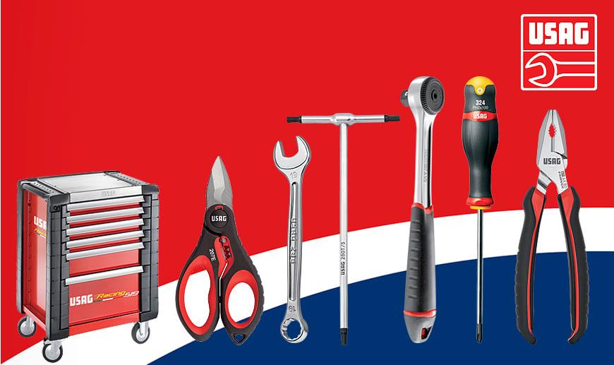 Usag: professionelle Werkzeuge, Schlüssel und Ducati Wagen auf Mister Worker erhältlich
