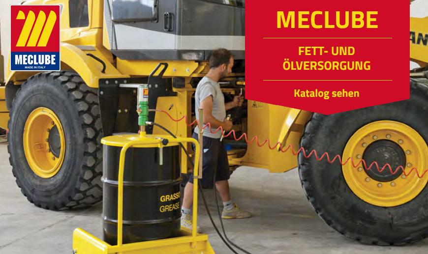 Meclube: Fett-und Ölversorgung und Pumpen auf Mister Worker erhältlich