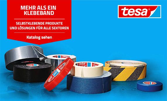 Tesa: Professionelle Klebebänder, Doppelklebebänder, Klempner - und Warnbänder auf Mr. Worker erhältlich