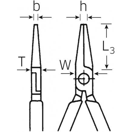 STAHLWILLE VDE flat nose pliers, short - 2