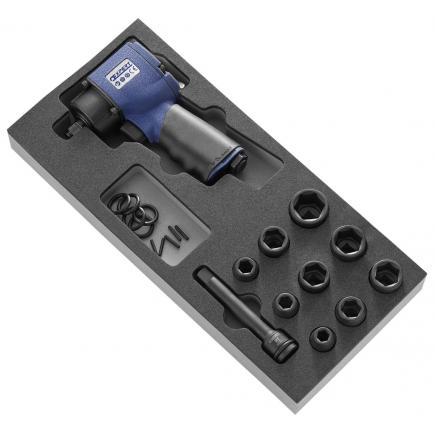 """EXPERT 11 piece 1/2"""" impact short reach sockets foam module - 1"""