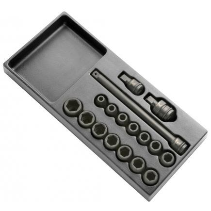 "EXPERT Impact sockets module 1/2"" 17 pieces - 1"