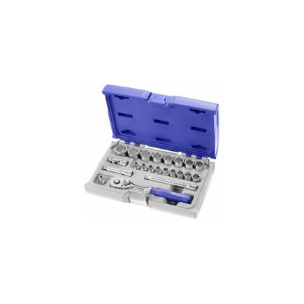 """EXPERT 3/8"""" 12 point socket and accessory set 22 pieces - 1"""