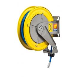 "MECLUBE Hose reel fixed FOR AIR WATER 20 bar Mod. F 400 WITH HOSE  Inlet outlet F3/8""G  M1/4""G swiv. - 1"