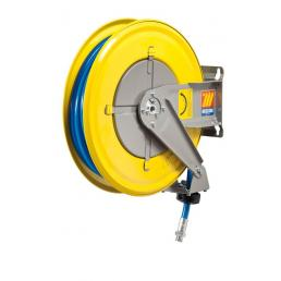 MECLUBE Hose reel fixed FOR AIR WATER 20 bar Mod. F 460 WITH HOSE 18m - 1