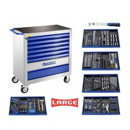 EXPERT X367 tool cart, 8 drawers, with 367 tools (4 modules) - 1