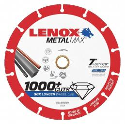 LENOX METALMAX™ cut off diamond disc, 178mm, for angle grinder - 1