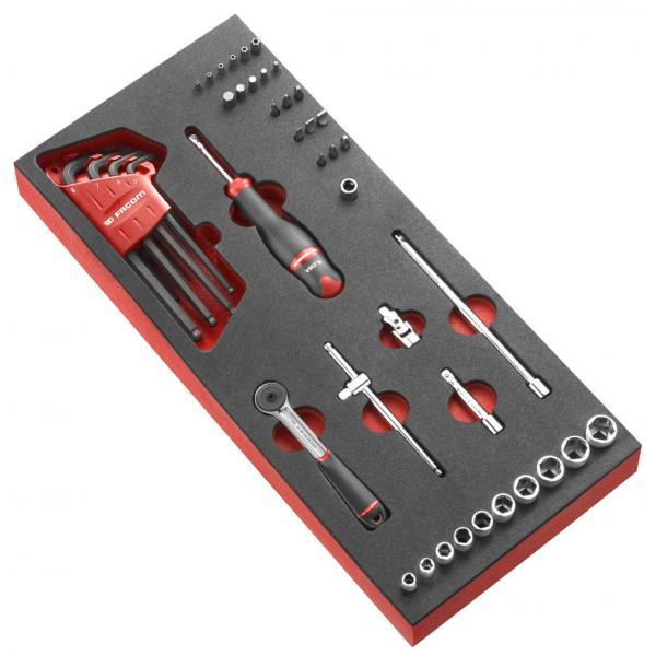 """FACOM 46-piece 1/4"""" metric 6-point socket foam module - 1"""