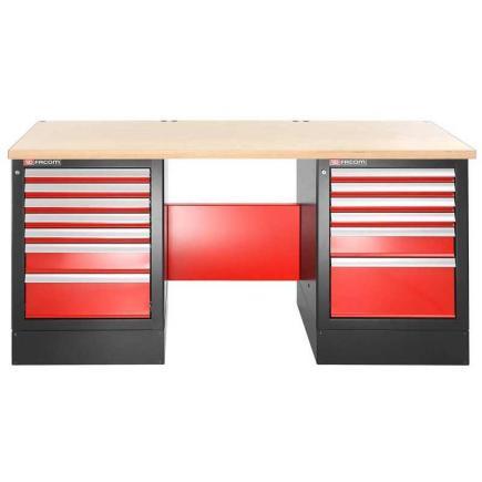 FACOM Heavy-duty workbench 2182 m - 13 drawers – wooden worktop - high version - 1