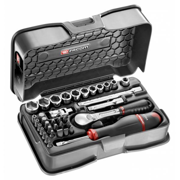 """FACOM 37-piece 1/4"""" metric 6-point sockets and bits set - 1"""