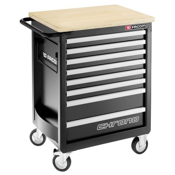 FACOM CHRONO roller cabinet - 8 drawers - 3 modules per drawer - Heavy loads and safety - 1