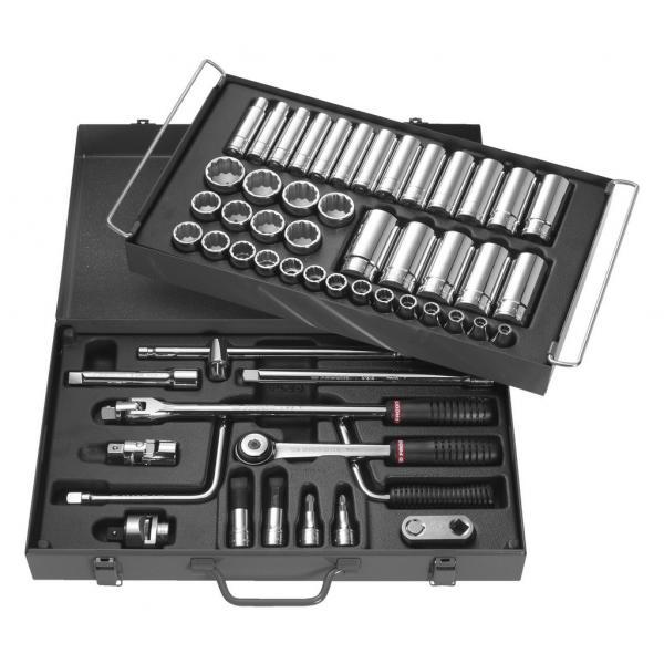 "FACOM Box of metric-size 12-point 1/2"" sockets - 1"