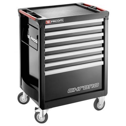 FACOM CHRONO+ roller cabinet - 7 drawers - 3 modules per drawer – black - 1