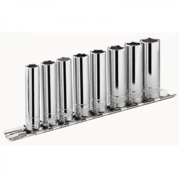 "FACOM Sets of 3/8"" sockets – metric – on metallic holder - 1"