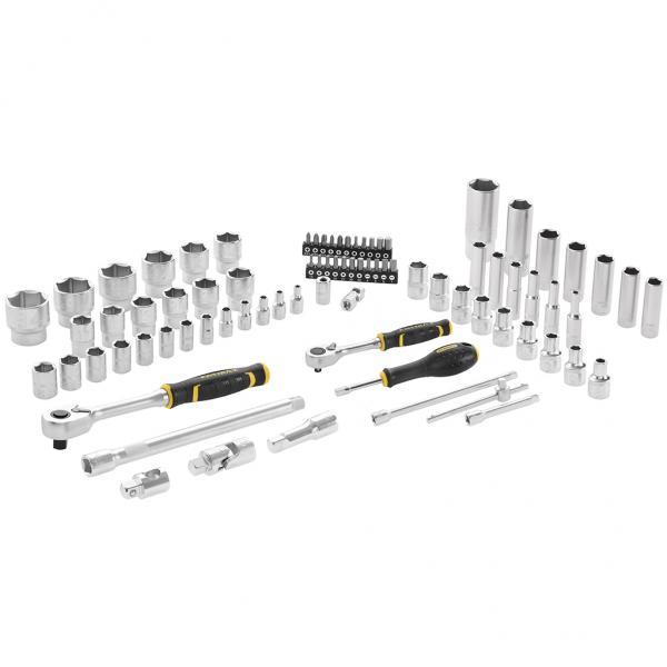 "STANLEY 81 pcs set Fatmax® socket wrench - 1/4"" + 1/2"" - 1"